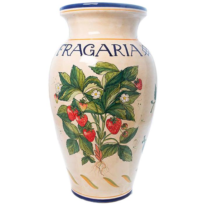 Напольная ваза L'Antica Deruta Ботаника Fragaria