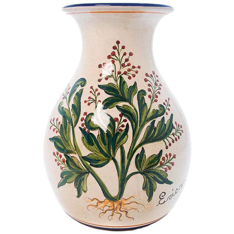 Ваза L'Antica Deruta Ботаника Erica