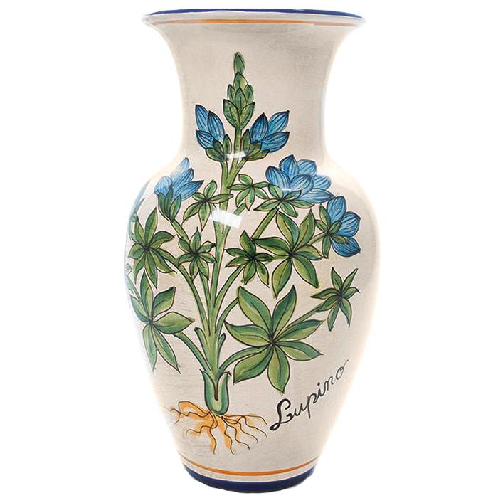 Ваза L'Antica Deruta Ботаника Lupino