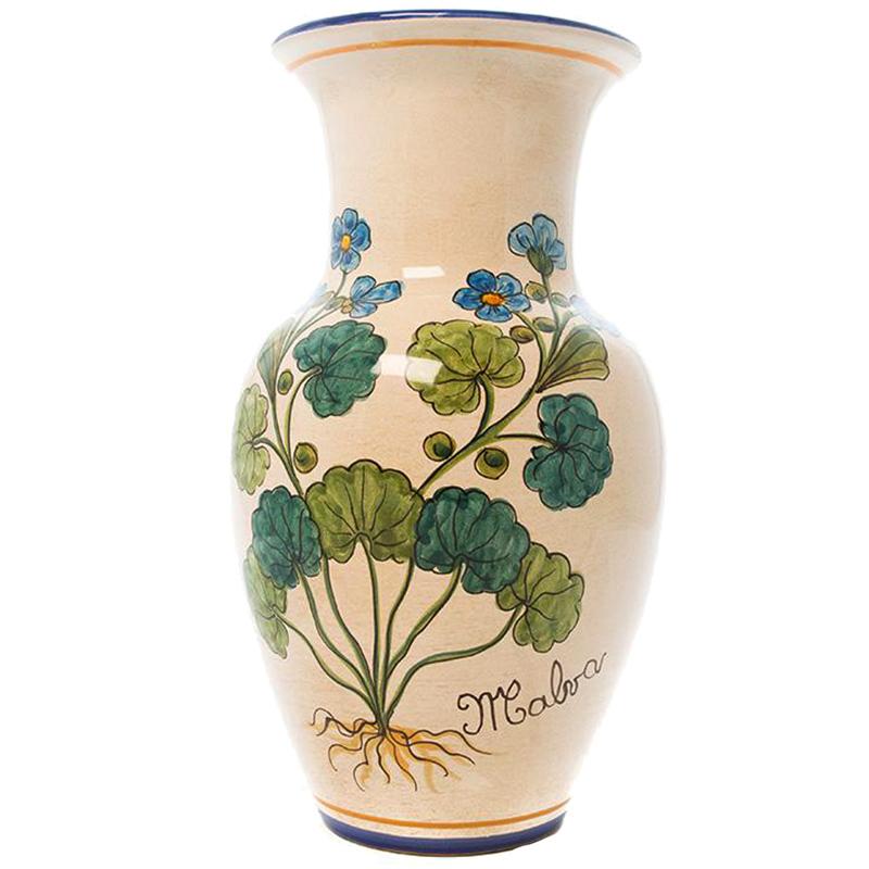 Ваза L'Antica Deruta Ботаника Malva