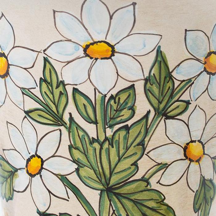 Ваза L'Antica Deruta Ботаника Matricaria в виде кубка