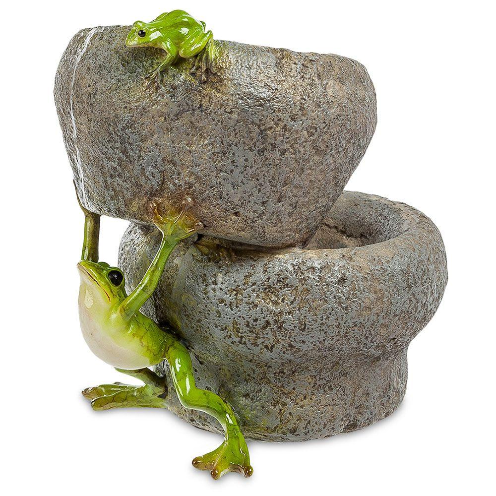 Ваза Pavone ED Лягушка держит камень
