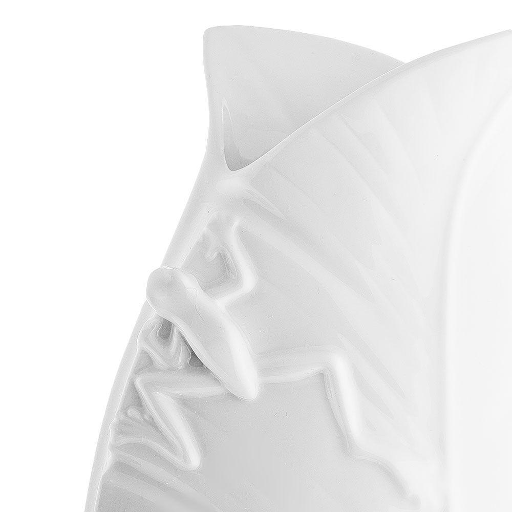 Белая фарфоровая ваза Pavone FM Тропические лягушки большая