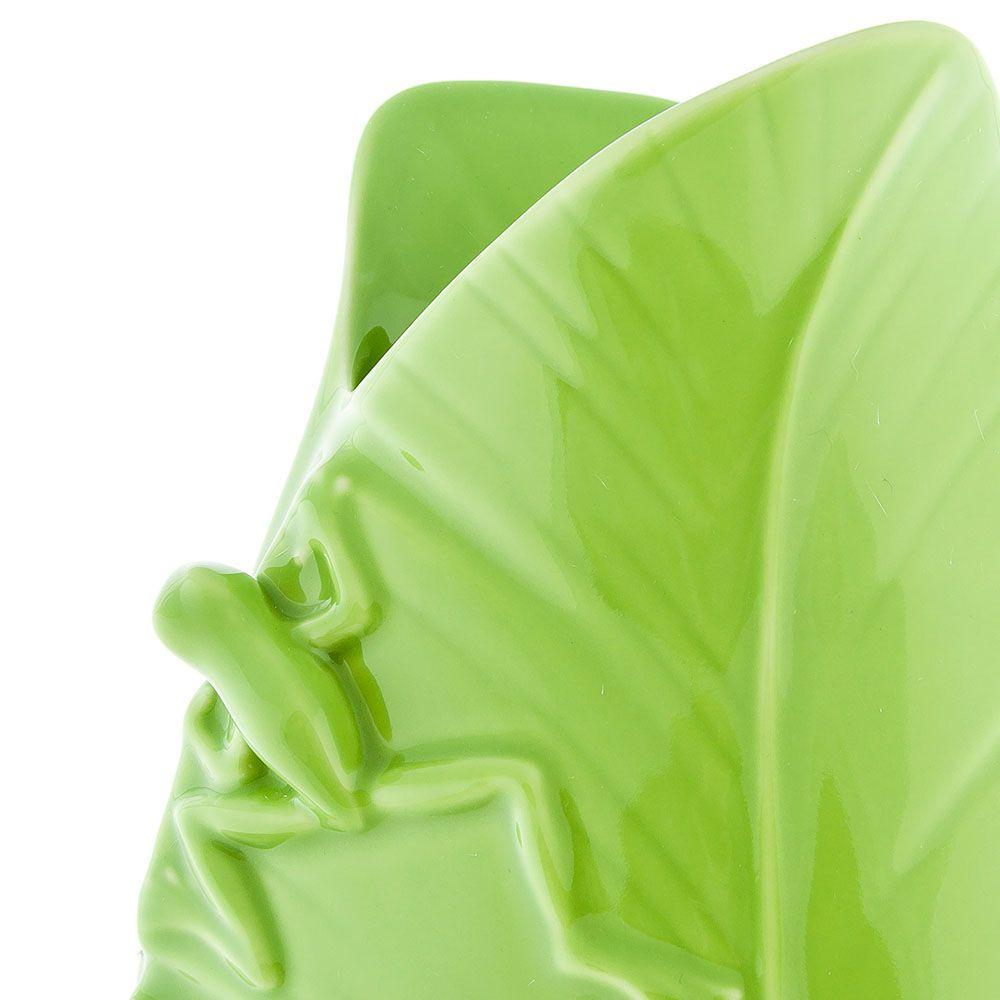 Фарфоровая ваза Pavone FM Тропические лягушки ярко-зеленая