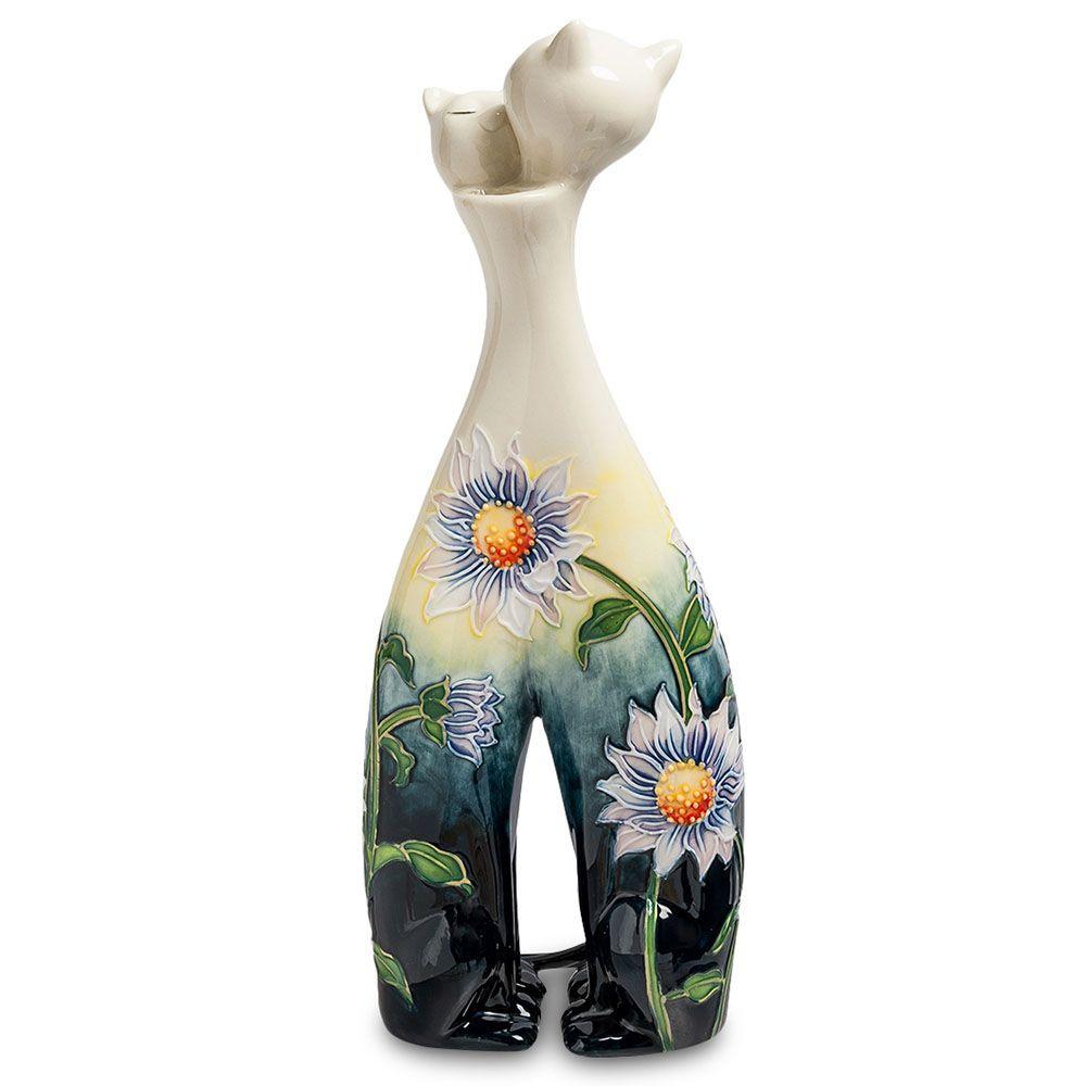 Статуэтка-ваза Pavone JP Кошки в подсолнухах