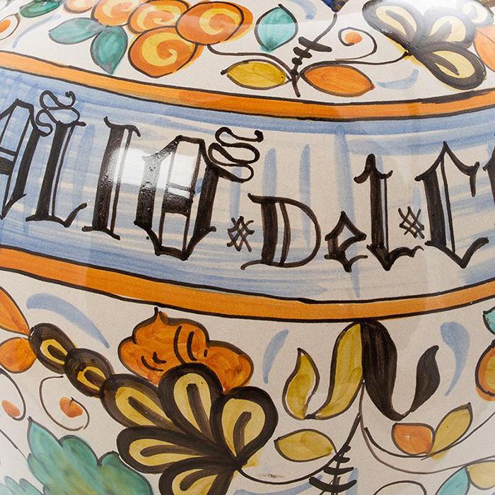 Ваза L'Antica Deruta Olio с ручками