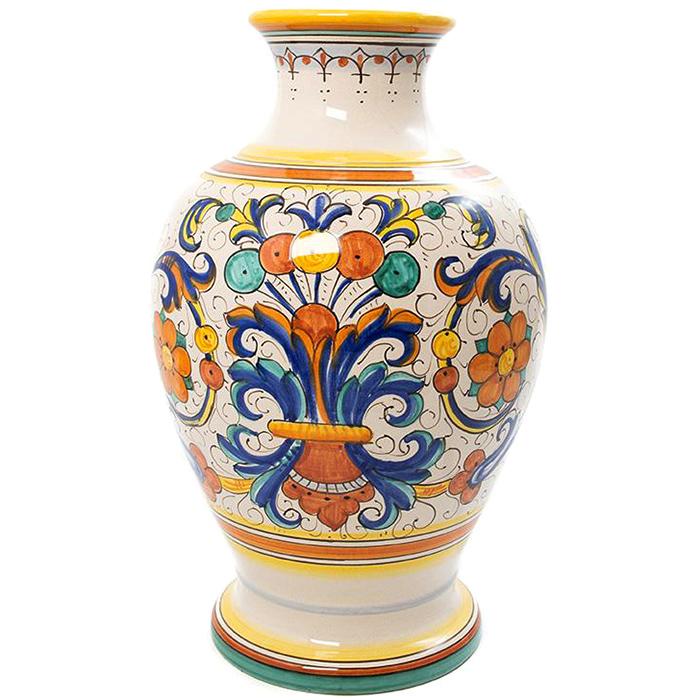 Ваза L'Antica Deruta Ricco с орнаментом