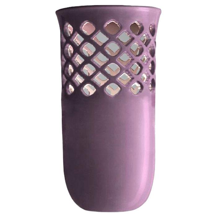 Керамическая ваза Ceramika Design Ajur фиолетового цвета