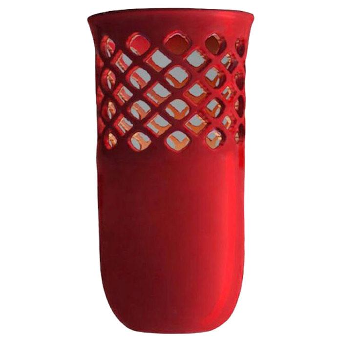 Керамическая ваза Ceramika Design Ajur красная