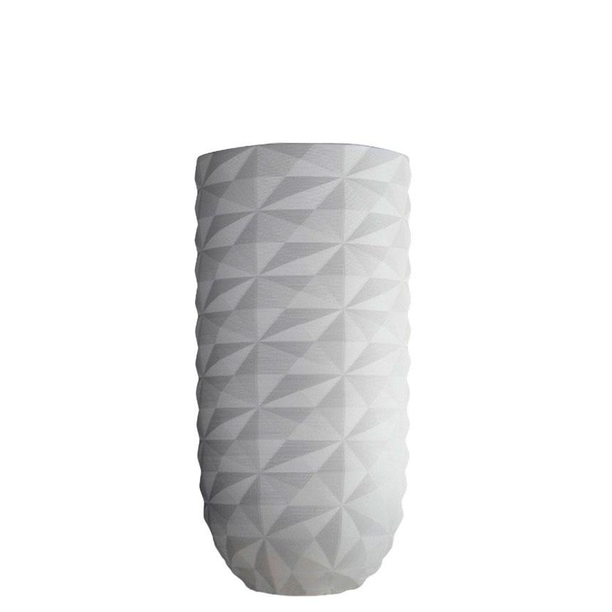 Ваза Ceramika Design Cristal в кристаллообразном дизайне белого цвета