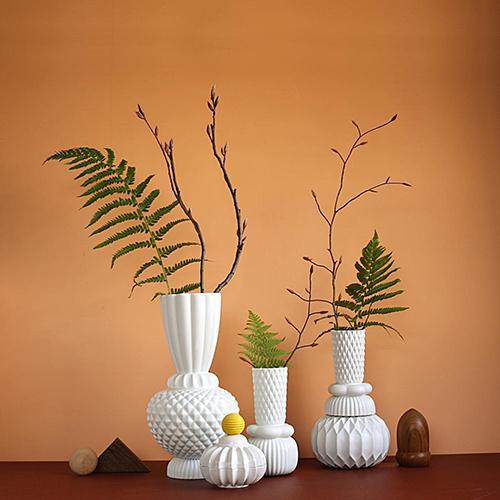 Настольная ваза Dottir Samsurium Honkadonka white, фото