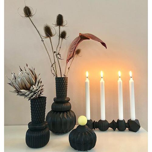 Настольная ваза Dottir Samsurium Honkabell black, фото