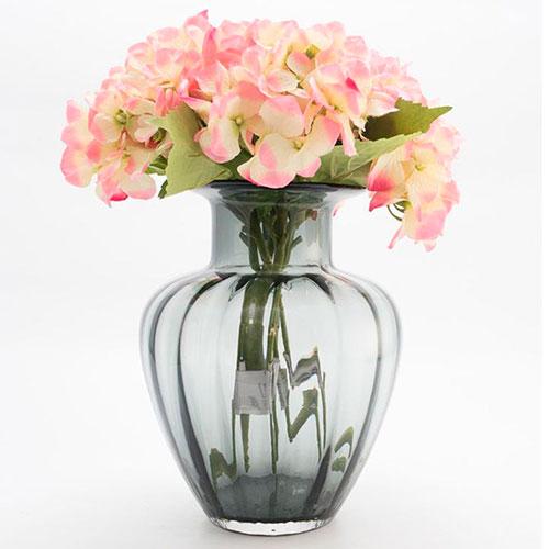 Стеклянная ваза Comtesse Milano Capri серого цвета, фото