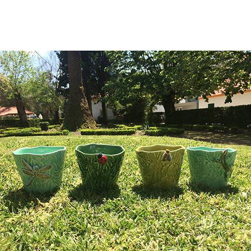 Набор из 3 вазонов на подставке Bordallo Pinheiro, фото