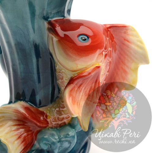 Ваза Blue sky «Золотая рыбка» (21 см), фото