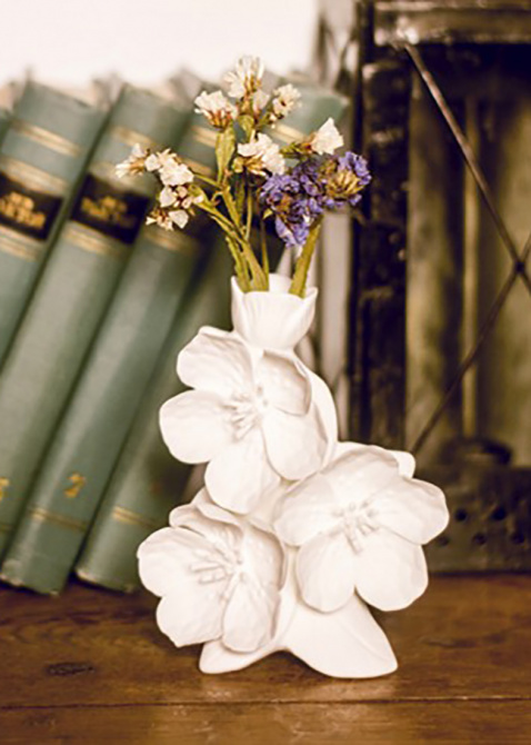 Ваза Цвет Вишни Enesco из бисквитного фарфора, фото