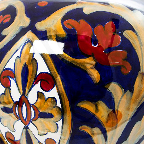 Ваза L'Antica Deruta Lustro Antico с крышкой 35см, фото
