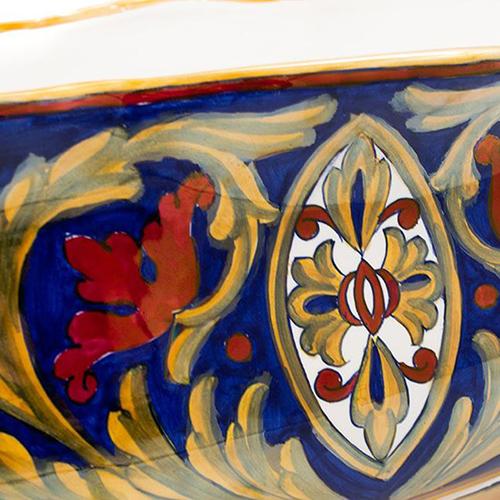 Кашпо L'Antica Deruta Lustro Antico с росписью, фото