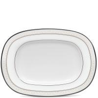 Поднос Noritake Montvale Platinum белого цвета из фарфора, фото