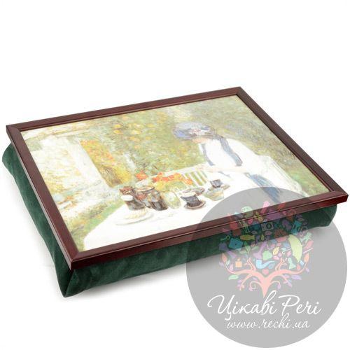 Поднос на подушке Margot Steel Designs Чай во французском саду (Фредерик Чайлд Хассам), фото