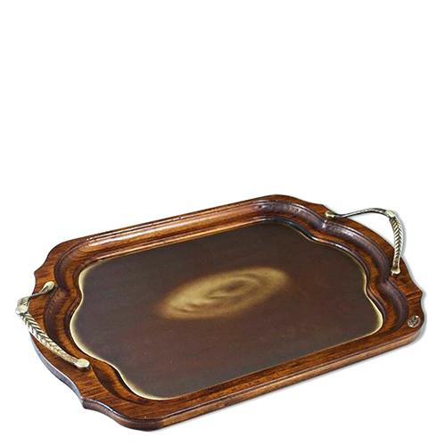 Поднос Capanni коричневого цвета с металлическими ручками, фото