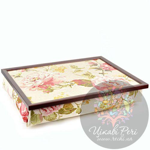 Поднос на подушке Margot Steel Designs Чайная роза, фото