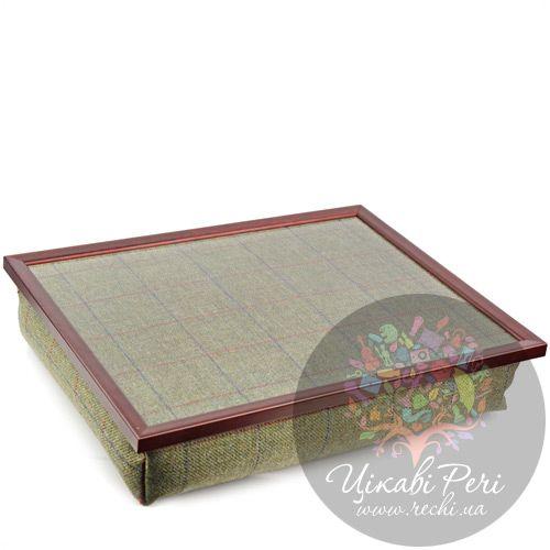 Поднос на подушке Margot Steel Designs Зеленая клетка, фото