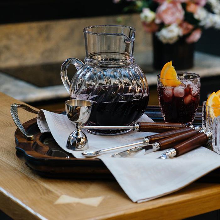 Поднос Capanni коричневого цвета с металлическими ручками
