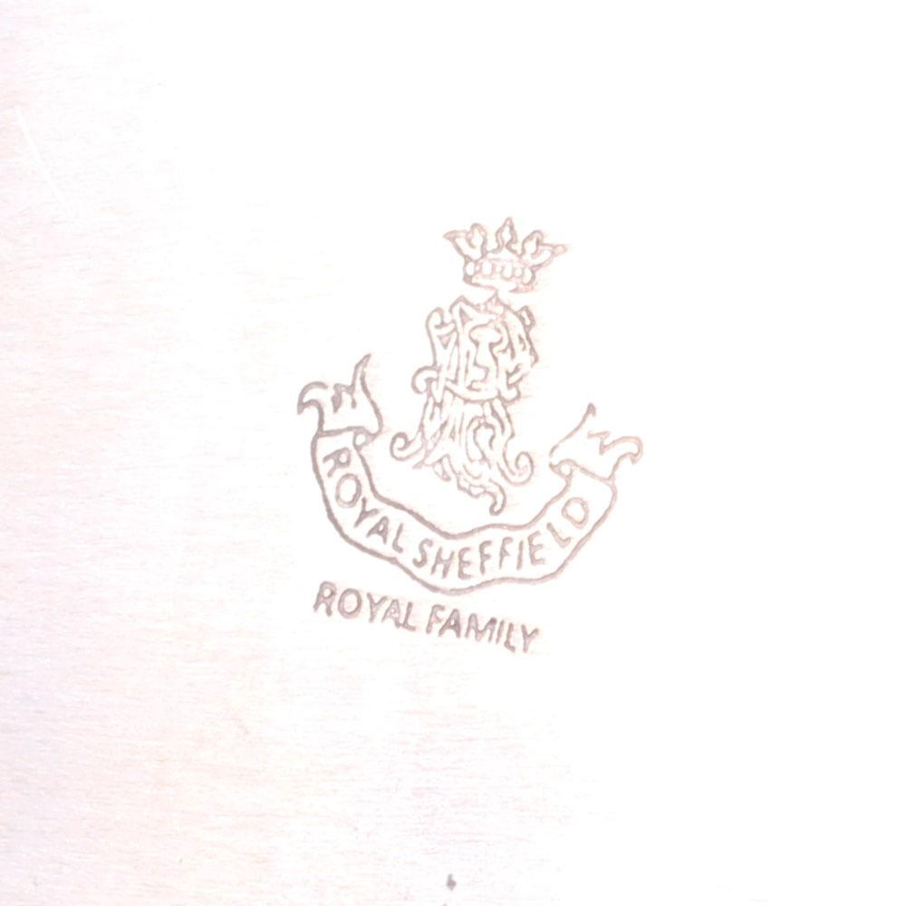 Прямоугольный поднос Royal Family Шеффилд с посеребрением