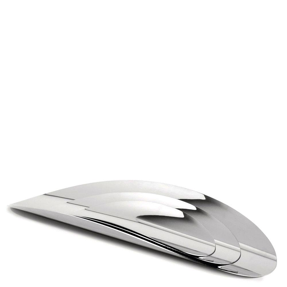 Набор из 3 подносов Alessi Ellipse серебристого цвета