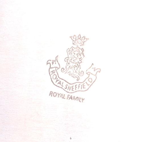Прямоугольный поднос Royal Family Шеффилд с посеребрением, фото