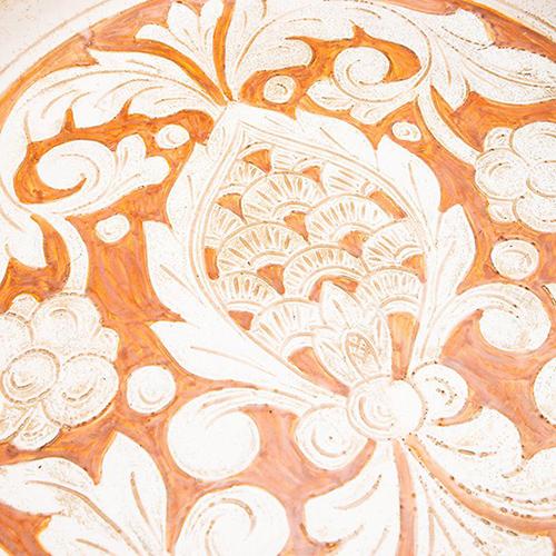 Круглый поднос L'Antica Deruta Scalfito, фото