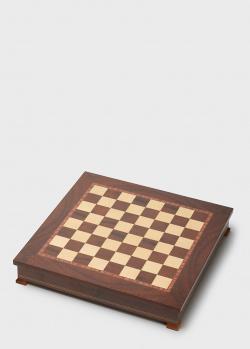 Шахматное поле коричневого цвета Nigri Scacchi для укладки шахмат, фото