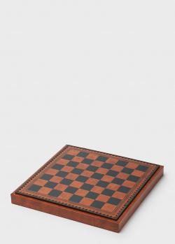 Шахматное поле для укладки шахмат Nigri Scacchi в коричневой цветовой гамме, фото