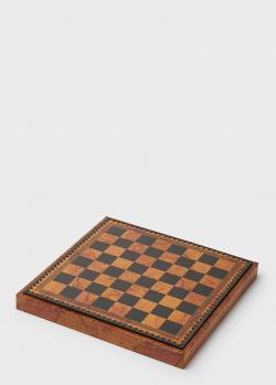 Шахматное поле для укладки шахмат Nigri Scacchi Старинная карта, фото