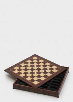 Шахматное поле для укладки шахмат Nigri Scacchi коричневого цвета, фото
