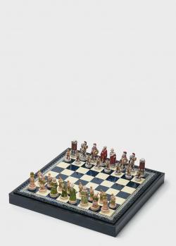 Шахматы маленького размера Nigri Scacchi Александр Македонский с доской-боксом, фото