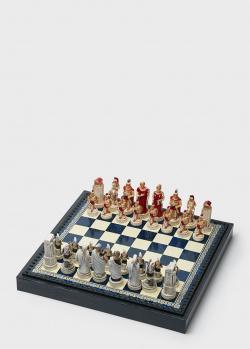 Шахматные фигуры Nigri Scacchi Троянская битва из искусственной слоновой кости, фото