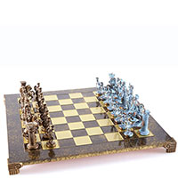 Греко-римские шахматы Manopoulos из латуни, фото