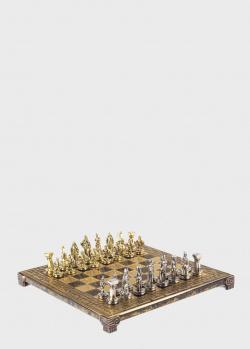 Шахматы Manopoulos Спартанский воин с фигурками из латуни, фото