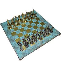 Шахматы Manopoulos Дискобол бирюзового цвета, фото