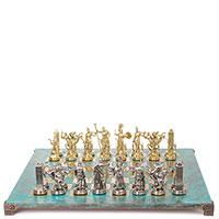 Шахматы Manopoulos Греческая мифология с бирюзовой патиной, фото