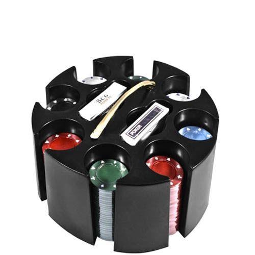 Набор для игры в покер в круглой подставке, фото