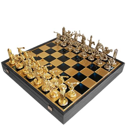 Шахматы Manopoulos Римская война в деревянном футляре, фото