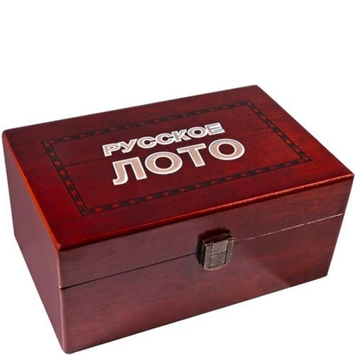 Набор русское лото в деревянной коробке