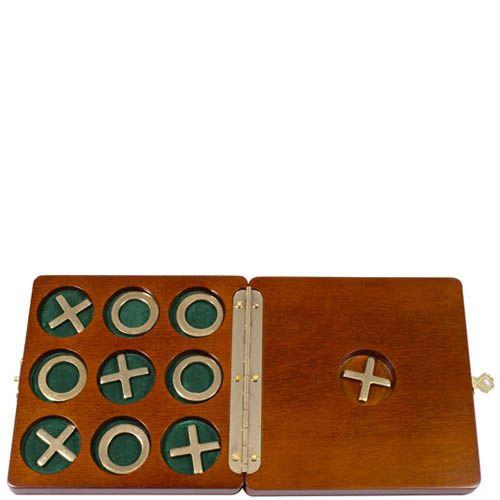 Игра крестики-нолики Hong Kong в деревянной коробке, фото