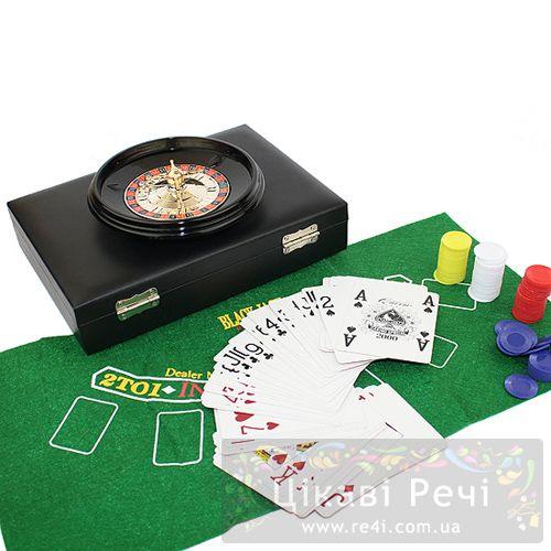 Набор для игры в рулетку и покер Hong Kong, фото