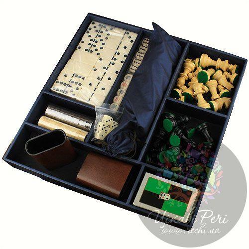 Набор из 5 игр Hong Kong в упаковке обтянутой кожей, фото