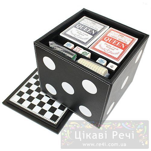 Набор из 6 игр: карты. шахматы. шашки. нарды. домино. кости, фото