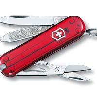 Нож Victorinox Classic полупрозрачный красный (7 предметов), фото
